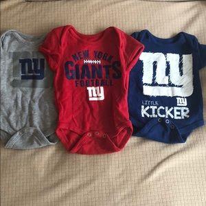 NY Giants NFL 0-3 month onesie set